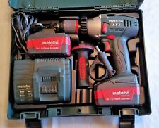Metabo Cordless Hammer Drill (SB 18 LTX) w/ Case, Charger & 2 Batteries - GREAT!