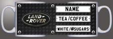 Land Rover logo number plate checkered diamond personalised printed mug D1