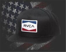 New RVCA Nations Black Snapback Hat Cap