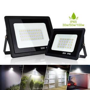 Flood 30w 50w 100w Outdoor Garden Lamp Ultra Thin Waterproof LED Floodlight Gift