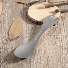 Ultralight Pure Titanium Spork Spoon Fork Tableware Outdoor Camping Picnic N