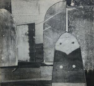 Luce Turnier- Haitian Mid Century Modern Abstract Collage & Graphite-1969