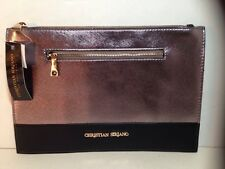 Christian Siriano For Payless Pewter And Black Clutch Purse New With Tags