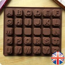 *UK Seller* Silicone Alphabet Blocks Chocolate Mould Letters Name Baking