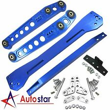 Blue Rear Lower Control Arm Subframe Brace Tie Bar Kit For 1996-2000 Honda Civic