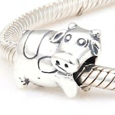 COW Charm Bead 925 Sterling Silver