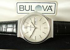 Vintage Bulova Men's Watch c1980, Running Automatic, Display Box, New Strap