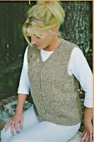 "Basic Cardigan Vest for Women Knitting Pure & Simple Pattern #995 XS-XL 33""-46"""