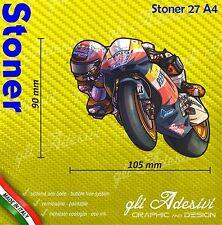 Adhésif Motorrad Casey Stoner caricature stickers carénage casque 10 x 9 cm