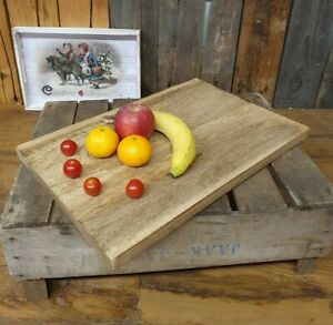 XL Servier- & Schneidebrett aus Mango Holz Vesperbrett Tranchierbrett Küche