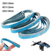 5/10Pcs Abrasive Zirconia Sanding belts 330 X 10/457 X 13/520X20mm 40-120 Grit