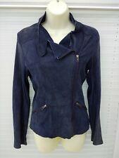 Goosecraft Gallery. Navy Suede Biker Style Jacket Size M. Cost £194.00