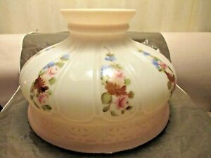 "VINTAGE~~~10"" COLEMAN LAMP SHADE WITH FLOWERS"