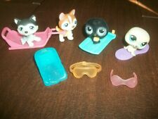 LPS Littlest Pet Shop Arctic Animal Lot w/ 4 Pets + accessories HUSKIE DOGS