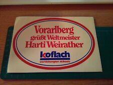 ADESIVO vintage STICKER kleber SCI SKI KOFLACH WORLDCHAMPION SKI BOOTS