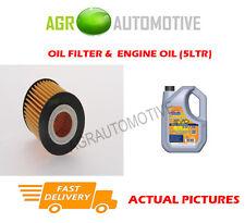 PETROL OIL FILTER + LL 5W30 ENGINE OIL FOR MAZDA 6 2.3 162 BHP 2002-03