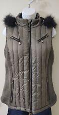 Goode Rider Women's Gray Quilted Luxury Goose Down Equestrian Vest Size Medium
