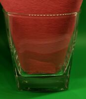 "JOHNNIE WALKER Whiskey 8 oz Rocks Glass Square Bottom 3 1/2"" Tall Vintage New"
