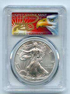 2020 $1 American Silver Eagle 1oz PCGS MS70 FS 1 of 1000 Thomas Cleveland Eagle