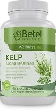 Algas Marinas/Kelp 90 Capsules by Betel Natural - 1000 mg per Serving - Iodine