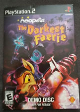 PLAYSTATION 2 PS2 DEMO DISC NEOPETS THE DARKEST FAERIE PROMO FREE US SHIP RARE!