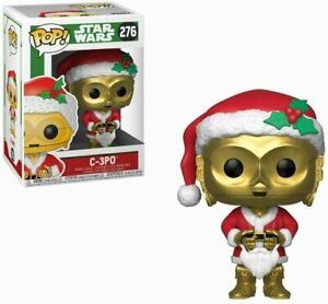 HOLIDAY C-3PO w/ Santa Hat Star Wars Funko Pop #276 w/ Protector (NEW!)