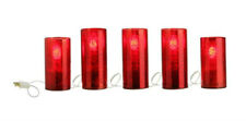 "102"" LIGHTED MERCURY 5-CANDLE Burgundy RAZ 3216324 CHRISTMAS Pillar NEW WOW"