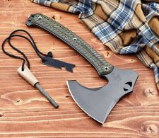 RMJ Tactical WeeZerker Camp Axe - Dirty Olive G-10 - 52100 Steel - Auth. Dealer
