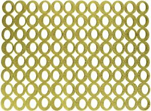"""1 - Chilewich Mod Circles Rectangle Easy Clean MICROBAN Placemat 14 x 19"""" - Gold"""
