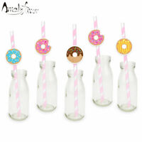 Donut Theme Party Paper Straws 25PCS Tea Time Donuts Dessert Baby Kids Event …