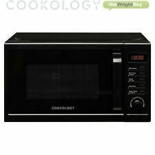 Cookology CFSDI20LBK Digital Microwave in Black, 20L 800W Freestanding