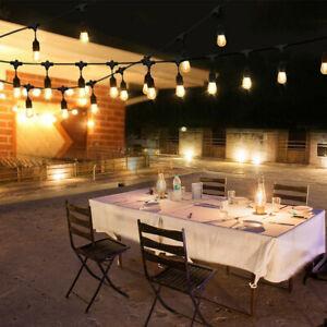 30m LED Lichterkette Glühbirne Garten Außen Outdoor Beleuchtung LED Birnen E27