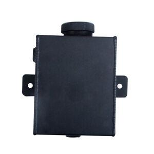 1.2L Universal Aluminum Radiator Expansion Overflow Coolant Tank Black Bottle