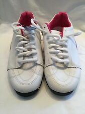 Gallaz Neogene Childrens Kids Girls White Pink Skate Shoes UK Size 6.5 BNWOB