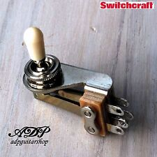 SELECTEUR Switch 3 ways SWITCHCRAFT TOGGLE style SG Right Angle Old White BLANC