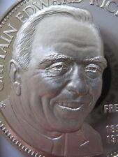 7/8-OZ EDWARD RICKENBACKER FREEMASON BROTHERHOOD MASONIC COIN SILVER.925+GOLD