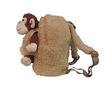 Children's Plush Brown Monkey School Backpack