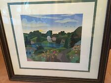 Set of 2 Signed and Framed Artist Proof Limited Ed. Serigraphs by Thomas Knight