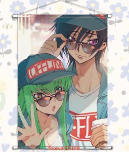 Anime Code Geass 反叛的鲁鲁修 ART Wall Scroll Poster Home Decor Otaku Gift 60*90CM #N3