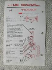Case 930 1030 Series Comfort King Crawler Tractor Lubrication Guide Chart