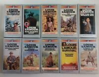 Louis Lamour Cassette AudioBook Lot of 10 Titles (SEE DESCRIPTION FOR TITLES)
