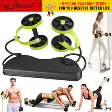 Abdominal Crunch Fitness Wheel -Duble Wheel Roller Exercise Home Gym Workout Usa