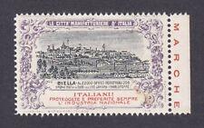 BIELLA CITTÀ 151 Chiudilettera Erinnofilo 1915 - CITTÀ MANIFATTURIE Ed.MARUCELLI