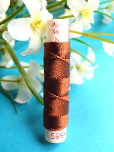 106B / Superb Coil Old Pure Thread Silk Drawstring Phénix Brown N° 5994