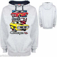Dodge Hoody Hoodie Chrysler Mopar Charger American V8 Muscle Car Retro Clothing