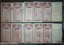 "10 pcs of China 1950 People""s Bank Savings Bonds $500000"
