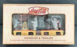 K-Line Coca Cola Handcar & Trailer; K-2625-02B; NIOB; never run