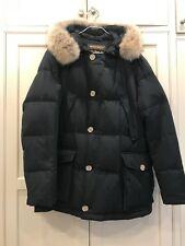 Woolrich John Rich & Bros. Men's Fur-Trimmed Arctic Parka Black Size Large