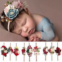 3Pcs Baby Girl Flower Headband Garland Hair Band Elastic Party Headwear Gift