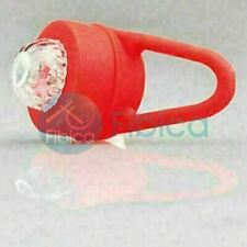 New Abot Bike Cycling Round Frog Led Front Head Rear Light Waterproof Red
